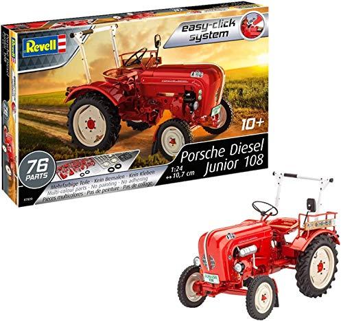 Revell Revell_07820, Traktor-Bausatz 1:24, 10,7 cm Porsche Junior 108, bunt