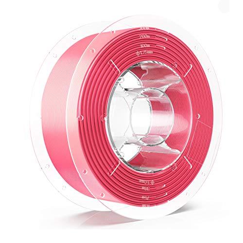 SainSmart Silk PLA Filament, Silk Pink, PRO-3 Tangle-Free Premium 1.75mm 3D Printer Filament, Dimensional Accuracy +/- 0.02 mm, 1KG/2.2 LBS Spool