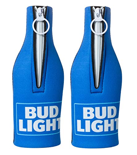 Bud Light Officially Licensed Bottle Suit Neoprene Beer Huggie Cooler Zipper Sleeve (2)
