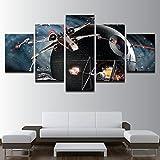 SFFLILY Cuadro En Lienzo - Impresión De 5 Piezas Material Tejido No Tejido Impresión Artística Decoracion De Pared-Nave Espacial 40X60Cmx2 40X80Cmx2 40X100Cmx1