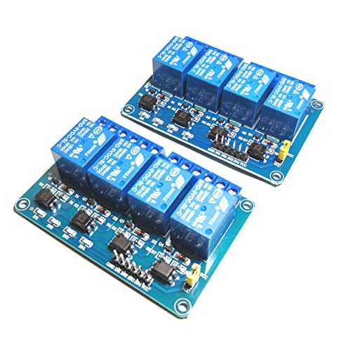 Huayao 2pcs 4 Channel DC 5V Relay Module with Optocoupler for UNO R3 MEGA 2560 1280 DSP ARM PIC AVR STM32 Raspberry Pi