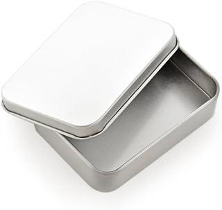 Homeland スチール缶ケース 小物入れ 3個セット シルバー (シルバー) (シルバー)
