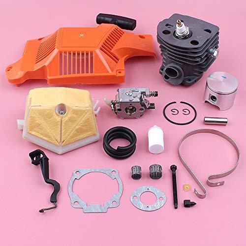 HAOHAO 46mm Cilindro Pistón Starter Kit Husqvarna 55 51 Carburador Filtro de Aire Freno de Cadena Band Ajustador Pieza de Recambio de la Motosierra