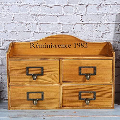 YCSD Caja Vintage, Baúl De Almacenamiento De Madera Decorativo, Cajón Vintage Caja...