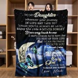 Blue Throw Blanket Daughter Gift from Mom Flannel Blankets Christmas Birthday