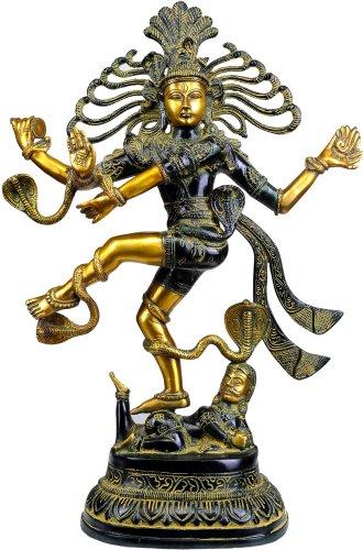 Exotic India Lord Shiva comme Nataraja Statue, Noir/doré, 14 x 4 x 53,3 cm