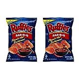 Ruffles Flamin' Hot Bar-B-Q Potato Chips 210g/7.4oz, 2-Pack {Imported in Canada}