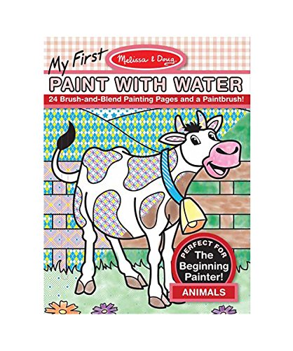 Melissa & Doug My First Paint With Water Coloring Book: Animals (24 Painting Pages)