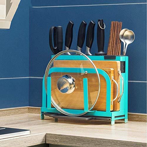 AJH Pratique Porte-Couteau Pratique Fournitures Cuisine en Acier Inoxydable Porte-Couteau Multifonction Rack Couteau de Cuisine Planche à découper Mettez l'outil étagère de Rangement, b