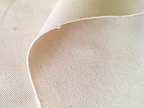 布人倶楽部 綿100% 8号 帆布 2199 92cm幅 (ネップ残しの生成り, 1m)