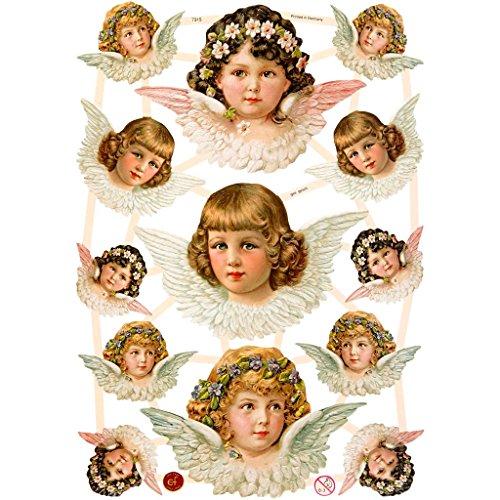 Glanzbilder, 16,5x23,5 cm, Engelmädchen, 3 Blatt
