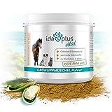 Ida Plus - 100% Grünlippmuschel-Pulver (100 g) - Ohne Zusätze - Für Gelenke bei Hunden, Katzen und Pferden - Versorgung des Bewegungsapparates mit Glykosamin-oglykanen, Omega 3, Calcium, Magnesium