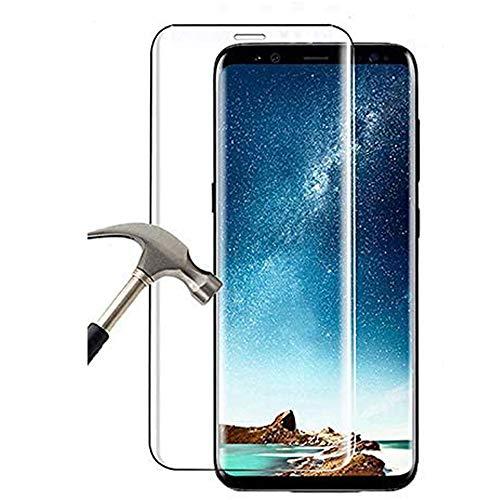 Hulier [2 Stück] Schutzfolie für Samsung Galaxy S8, 9H Härte Schutzfolie Ultra Dünn HD Displayschutzfolie Curved Full Cover Folie Kompatibel mit Samsung Galaxy S8 - Transparent
