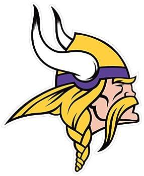 NFL Siskiyou Sports Fan Shop Minnesota Vikings Logo Magnets 8 inch sheet Team Color