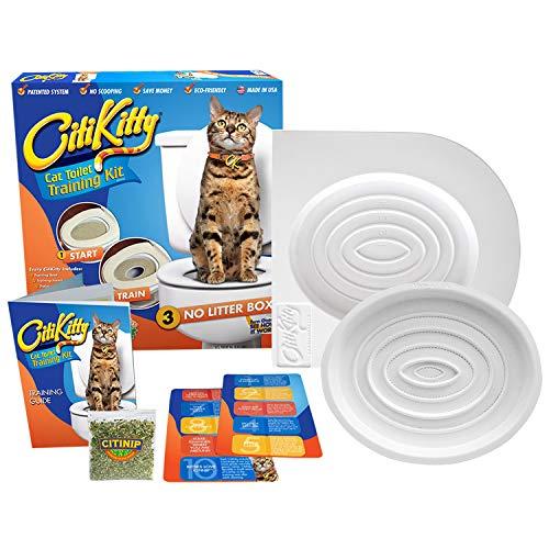 best cat toilet training system - CitiKitty Cat Toilet Training Kit