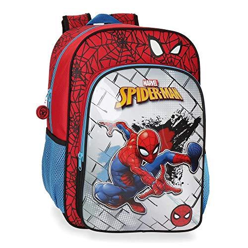 Joumma Marvel Spiderman Red Zaino Asilo Rosso 21x25x10 CMS Poliestere 3.5L