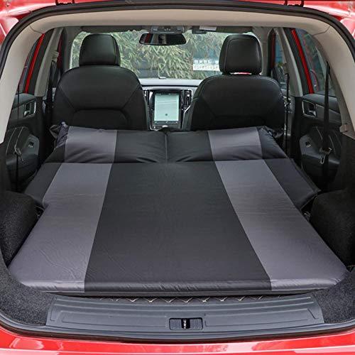 Lucky-all star - Colchón neumático automático para Coche, colchón neumático Grueso, SUV de Cama neumática, Cama de Camping portátil con Bolsa de Almacenamiento, Negro