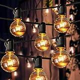 Lichterkette Glühbirnen, 37FT SGARTON Lichterkette Außen G40 Glühbirnen Outdoor Lichterkette IP44 Wasserdicht Gartenlichter im Freien Warmweiß für Terrasse, Außenbereich, Garten
