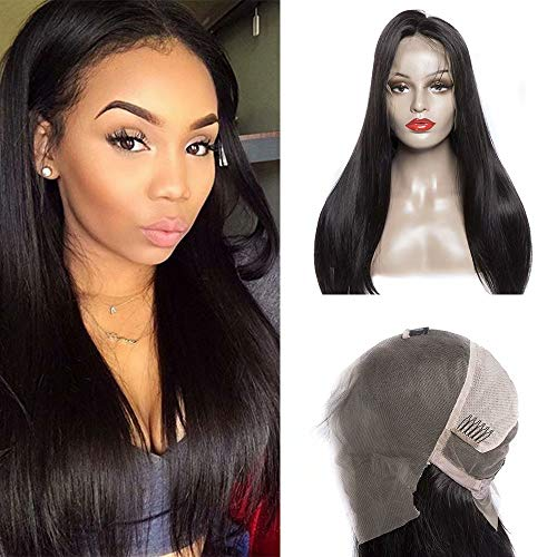 Maxine Hair Long Straight Full Lace Real Human Hair Wigs Pre Plucked and Bleached Knots 180% Density Glueless Human Hair Wigs For Black Women£¨22 inch