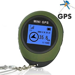 Mini GPS Locator, Portable GPS Locator Tracker for Outdoor Mountaineering Guide, Tracking Device Travel Portable Keychain Locator Pathfinding Motorcycle Vehicle Sport Handheld Keychain