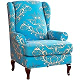 DQWGSS Funda para sillón de Orejas de 2 Piezas Fundas de sillón de Orejas elásticas de Spandex Fundas de sofá elásticas para Protector de Muebles en la Sala de Estar (Color: Color 4)