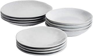 ProCook Malmo - Service de Table en Grès - 12 Pièces/Pour 4 Personnes - Petite Assiette, Grande Assiette & Assiette Creuse...