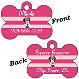 Minnie Mouse Double Sided Pet Id Tag for Dogs & Cats Personalized with 4 Lines of Text