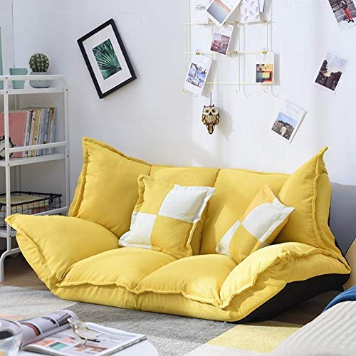 LJQLXJ divano Upholstery Adjustable Floor Sofa Bed Lounge Sofa Bed Floor Lazy Man Couch Living Room Furniture with 2 Pillow,1