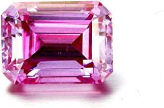 GemsIndustry 1.63Cts Pink Moissanite Simulated Diamond Loose Stone Octagon Brilliant Cut VVS Clarity 06 x 08MM