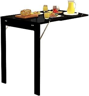 ZXYY Table Murale Pliante Table à Manger à tablettes suspendues au-Dessus de la Table Murale en Bois avec Table à Manger e...