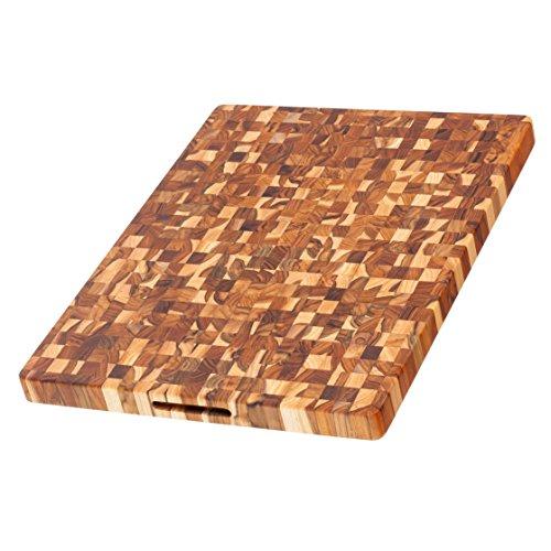 Teak Haus Schneidebrett 61x45,7x3,8cm, Holz, braun, 61 x 45.7 x 3.8 cm