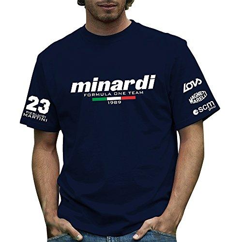 Retro Formula 1 T-Shirt, offizielles Design: Minardi 189 Gr. XX-Large, blau