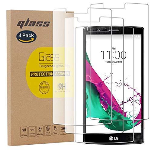 pinlu [4 Pack Protector de Pantalla de Cristal para LG G4 Protector...