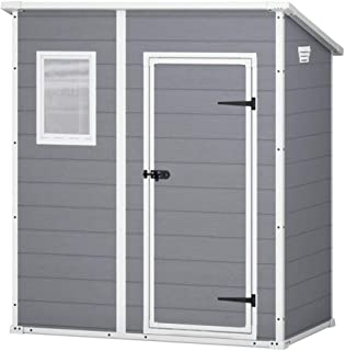 comprar comparacion Keter - Caseta de jardín exterior Manor Pent, Color gris