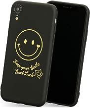 iPhone8 iPhone7 ケース スマイルマーク 「 ゴールドスタンプ 」 TPU ストラップホール 背面 カバー スマイル マーク ニコちゃん キラキラ 羽根 ロゴ ゴールド dm プレゼント 軽量 軽い iPhone8 / iPhone7,1.スマイルマーク