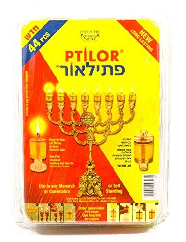 Ptilor Oil Hanukkah Candle Set with 44 Cups