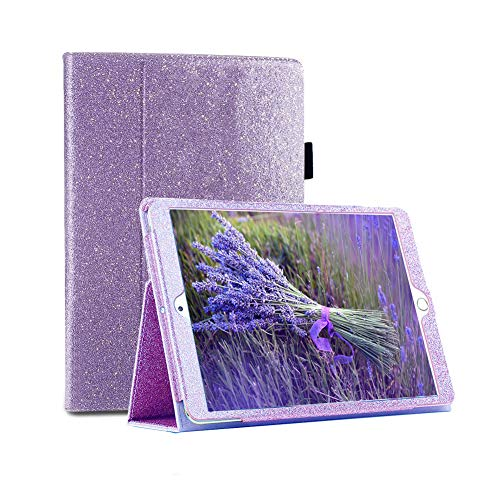 iPad Mini 5 2019 Case, FANSONG iPad Glitter Cases 7.9' 4th 5th Generation Bling Sparkle Leather [Flip Stand] [Auto Sleep/Wake] Universal Smart Cover for Mini iPad 5/4 7.9-Inch (Glitter-Purple)