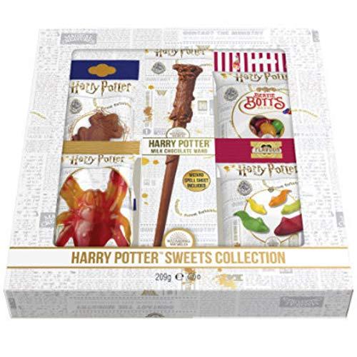 Colección de dulces de Harry Potter – 209 g – Rana de chocolate – Varita de chocolate – Jelly Slugs – Criatura gomosa – Bertie Botts Beans