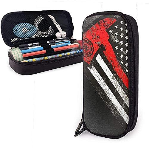 USA Feuerwehrmann Dünne Rex Linie Axt Flagge Bleistift Fall Schule Stift Taschen Bleistift Stationäre Make-up-Tasche-2LT-63I