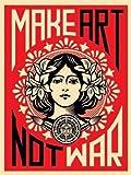 Make Art Not War Anti-War Peace Poster Frameless Gift 12 x 18 inch(30cm x 46cm)-LT-113