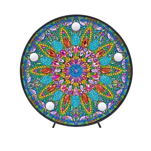 Gaoominy Equipo de Pintura de Diamante de Mandala con Luz de Noche una Mano Diy Kit de...