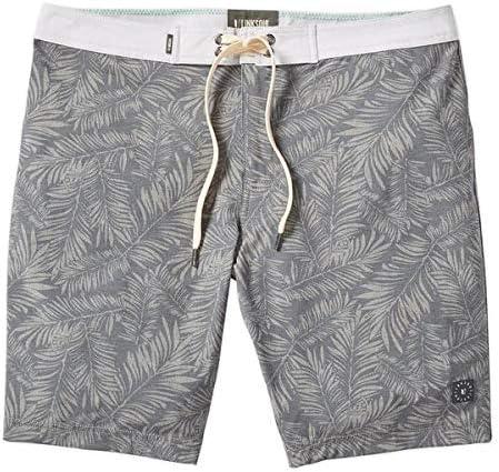 Linksoul LS6147 Palm Print Boardwalker Boardshort Grey