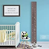 Back40Life Wooden Kids Growth Chart Ruler for Boys and Girls (Loved Beyond Measure) (Ebony...