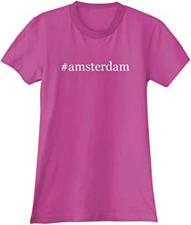 The Town Butler #Amsterdam - A Soft & Comfortable Hashtag Women's Junior Cut T-Shirt