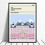 yhnjikl Grand Budapest Hôtel Vintage Classique Film Affiche Décor À La Maison Mur Décor Wall Art Toile Peinture Impression sur Toile 40X60 Cm sans Cadre
