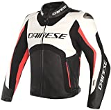Dainese Cazadora piel d-air Misano 2017 50 BIANCO-NERO-ROSSO FLUO