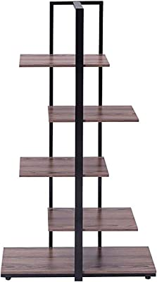 EXXtra Store Modern Bookshelf Display Etagere Open Concept Tower Shelf Bookcase 60