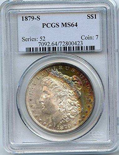 1879 S Morgan Silver Dollar $1.00 MS-64 PCGS