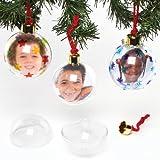 Baker Ross Foto-Weihnachtskugeln groß und durchsichtig (4 Stück)