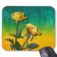 UOOPOO Gold Roses&Vibrant Watercolor Mouse Pad Rectangle Non-Slip Rubber Personalized Mousepad Gaming Mouse Pads